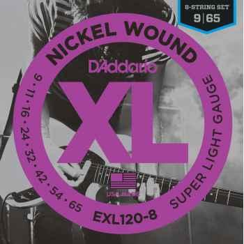 D´addario EXL120-8 Nickel Wound Cuerdas para Guitarra Eléctrica